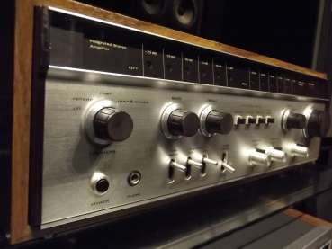 L&G L 2800 made by LUXMAN 60ger Jahre Japan Edel Bolide mit VU-Metern Holz